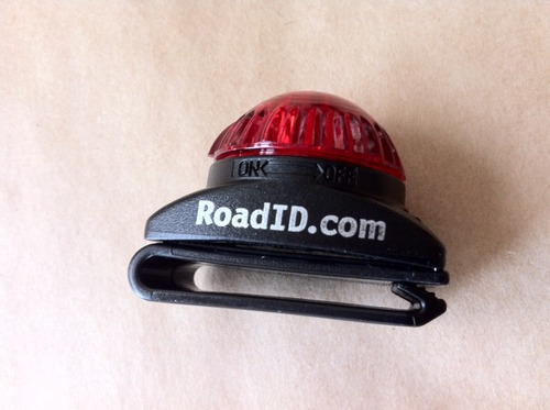 Road ID flashing light
